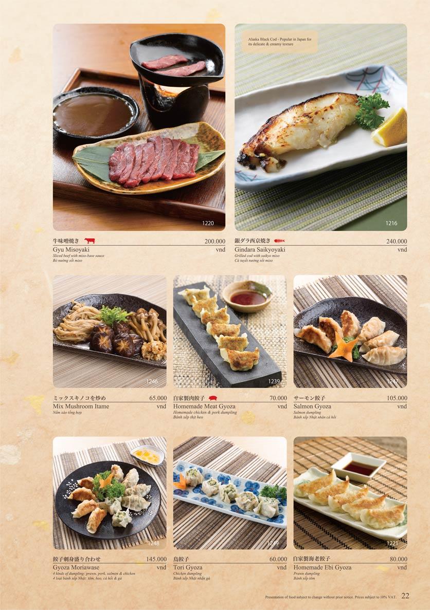 Menu Sushi Tei – Cao Thắng 33