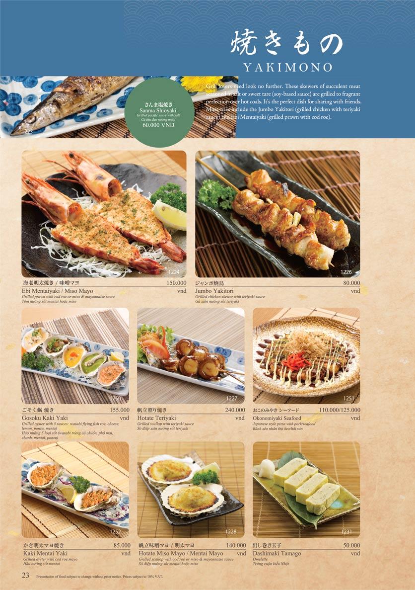 Menu Sushi Tei – Cao Thắng 34