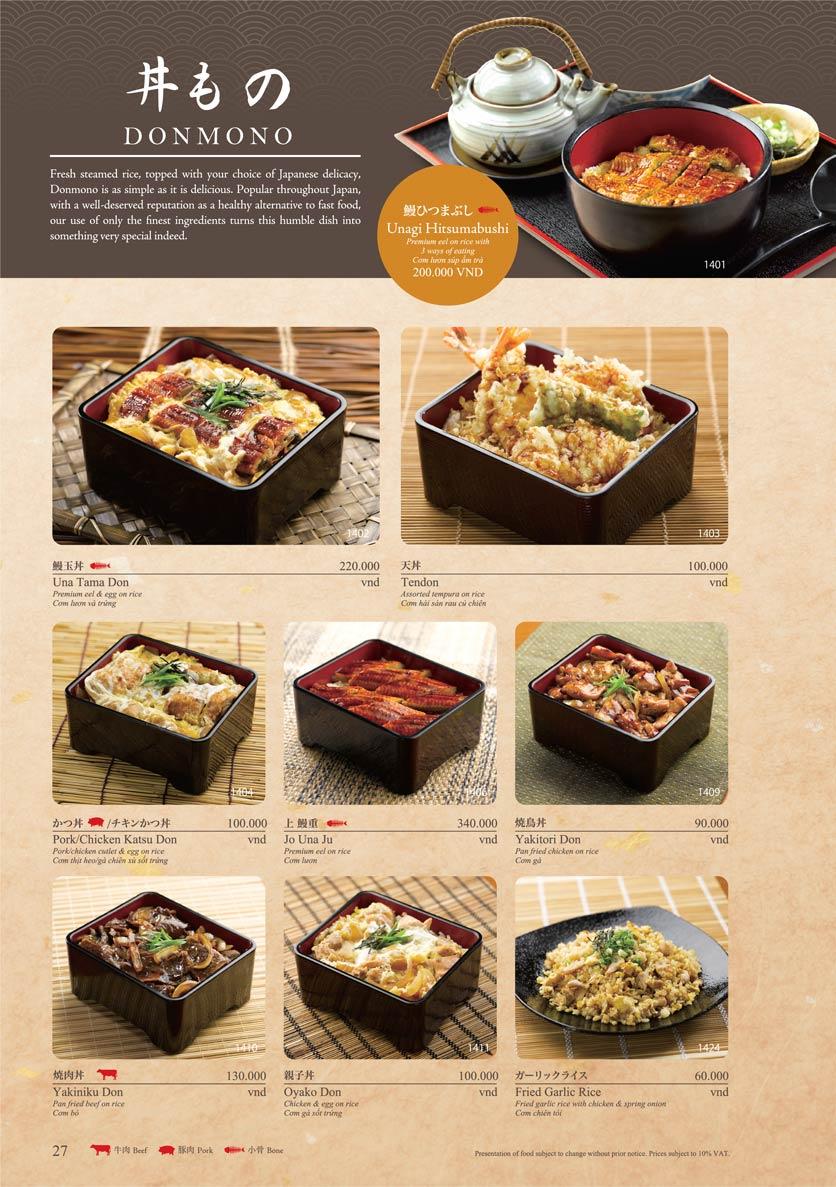 Menu Sushi Tei – Cao Thắng 38
