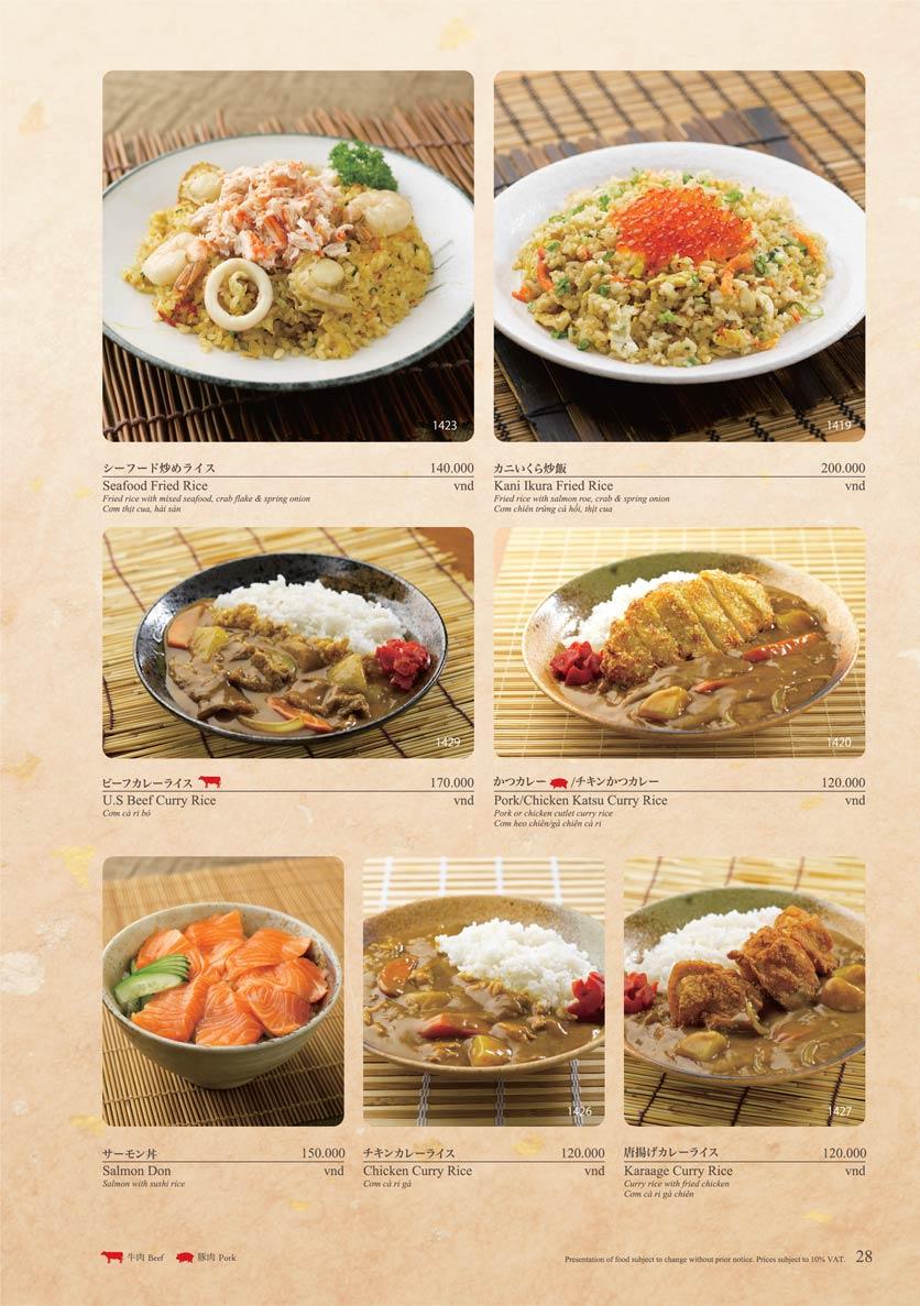 Menu Sushi Tei – Cao Thắng 39