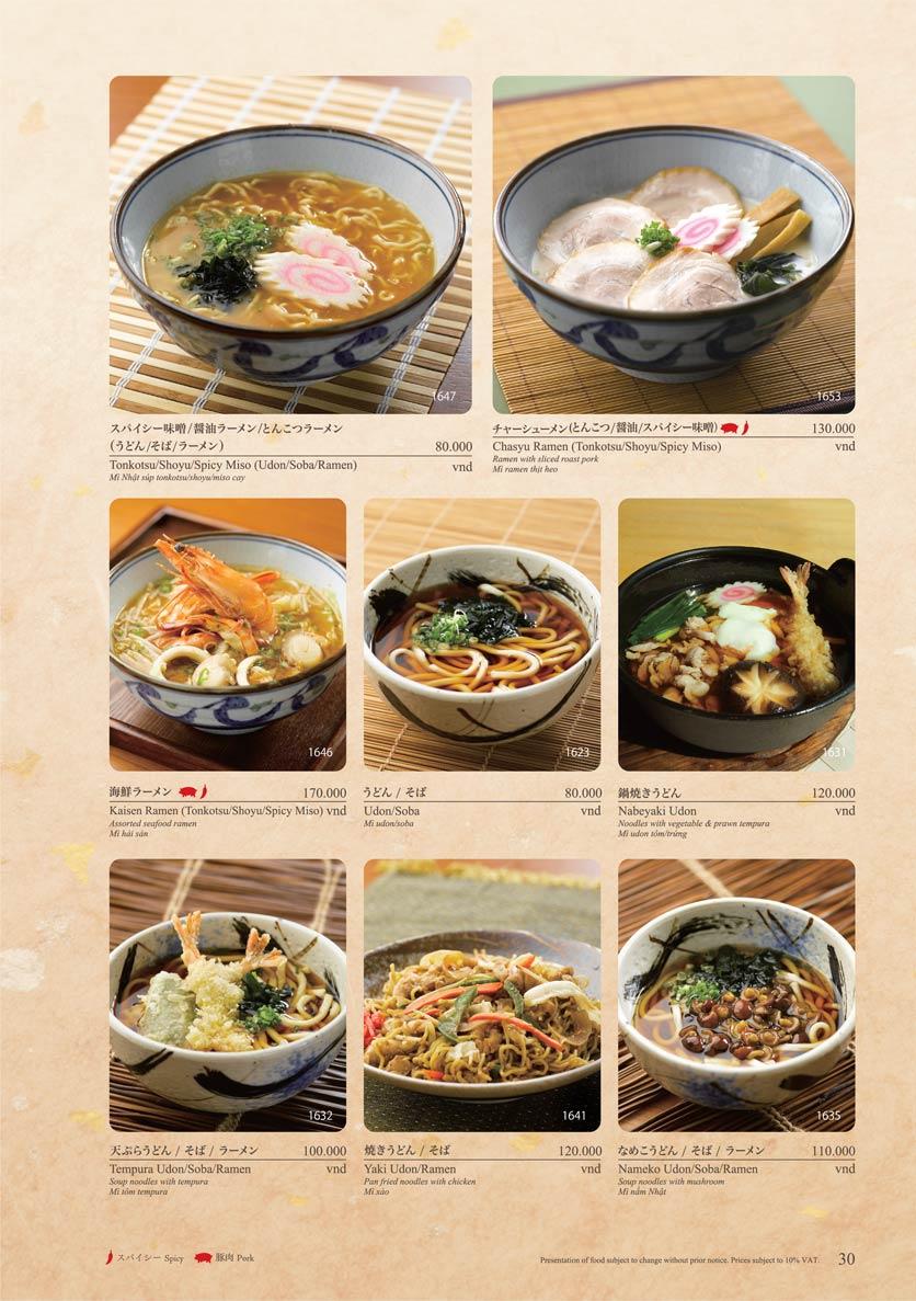 Menu Sushi Tei – Cao Thắng 41