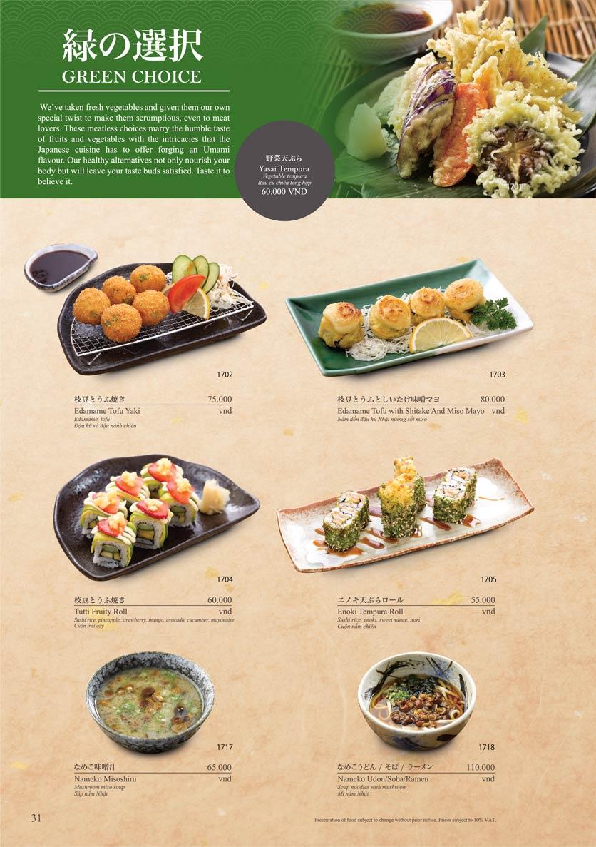 Menu Sushi Tei – Cao Thắng 42