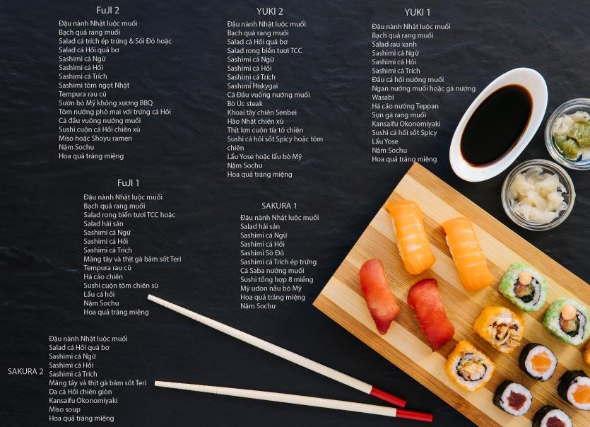 Menu Tamaya Japanese Restaurant - Hai Bà Trưng 59