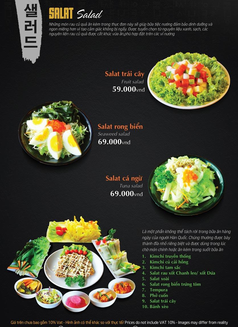 Menu Tengcho BBQ – Linh Đàm 8