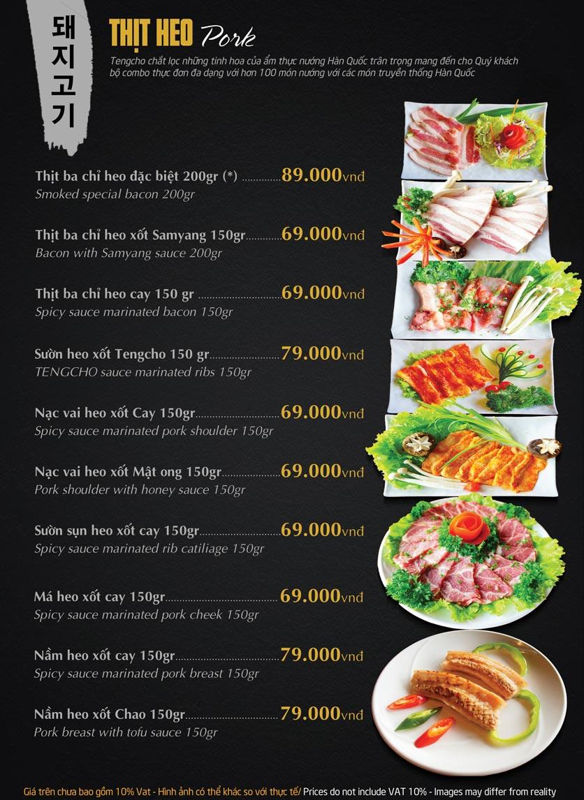 Menu Tengcho BBQ – Linh Đàm 13