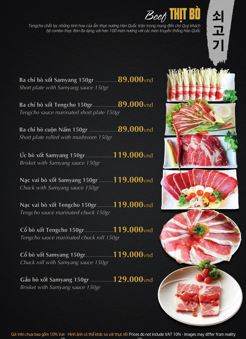 Menu Tengcho BBQ – Linh Đàm 14