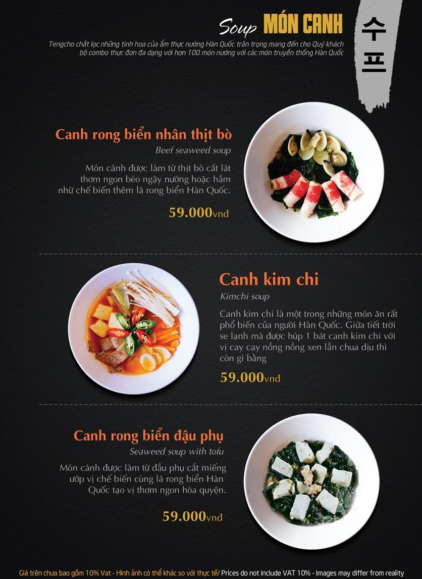 Menu Tengcho BBQ – Linh Đàm 18