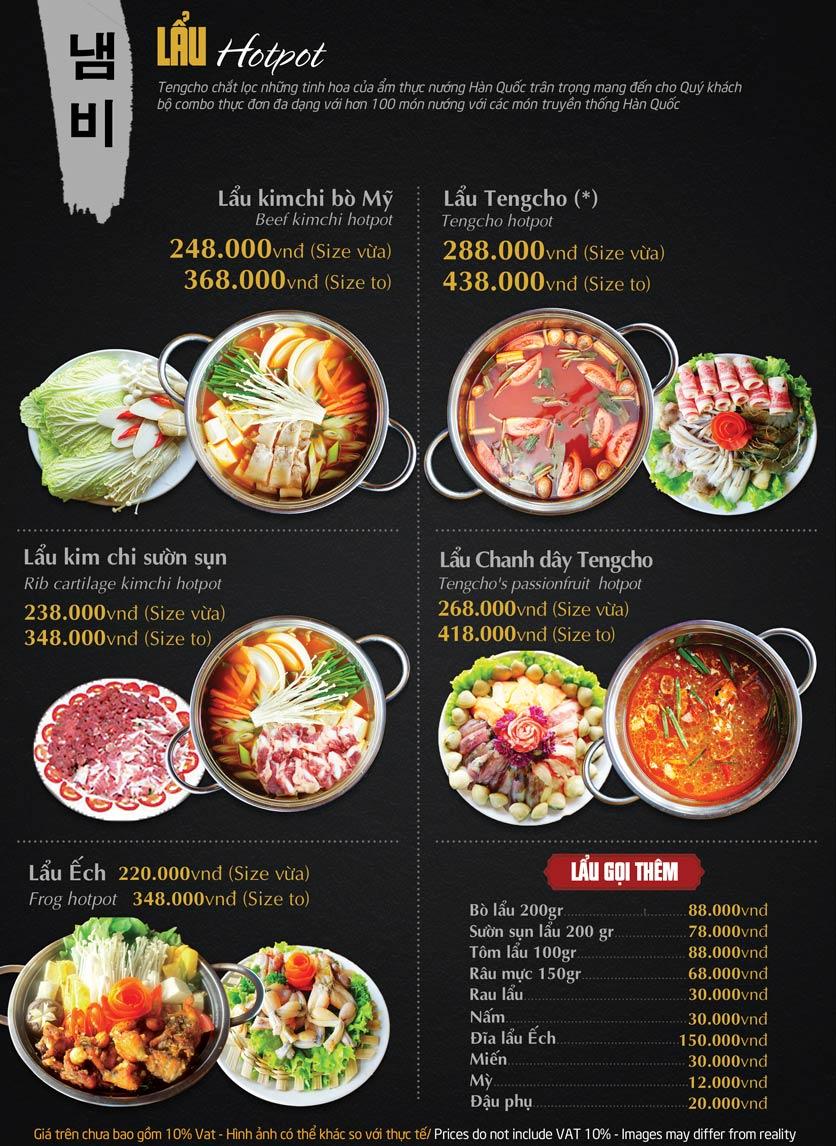 Menu Tengcho BBQ – Linh Đàm 19