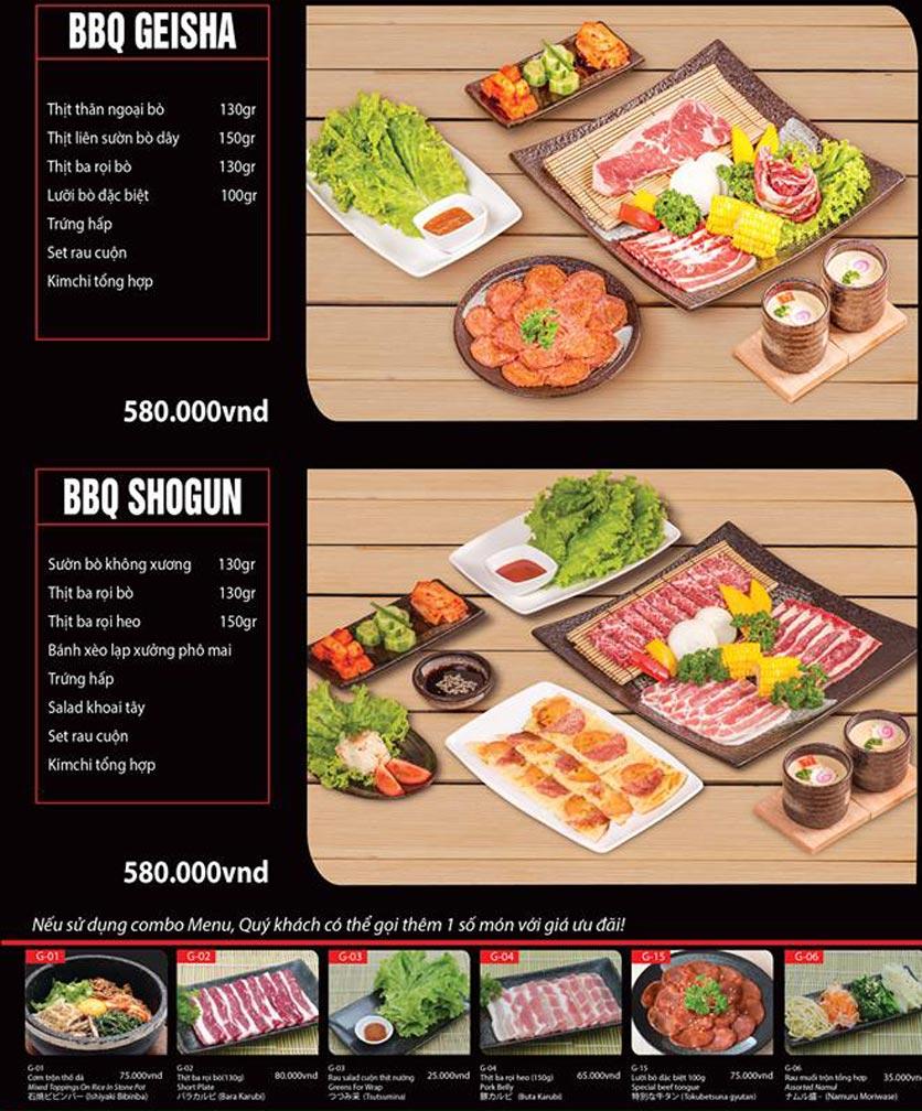 Menu Tokori BBQ - Ngô Quyền 39