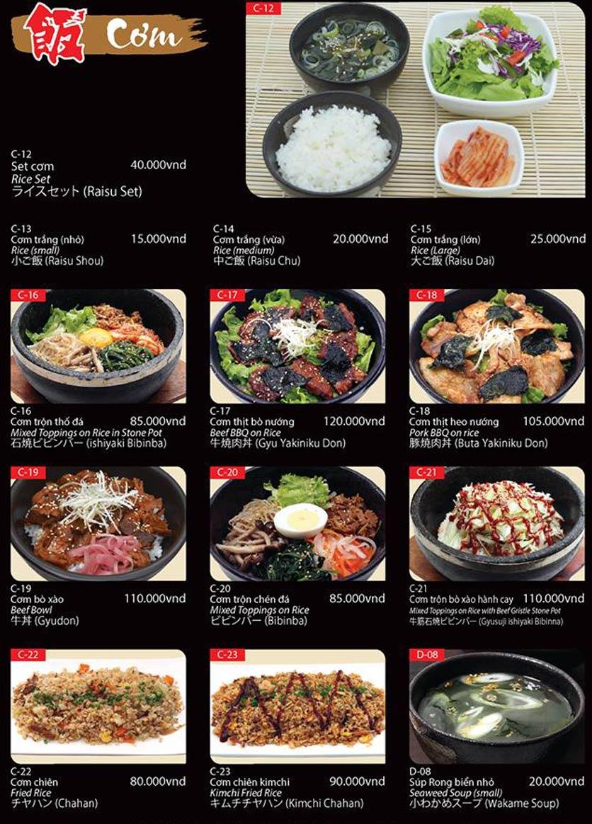 Menu Tokori BBQ - Ngô Quyền 54