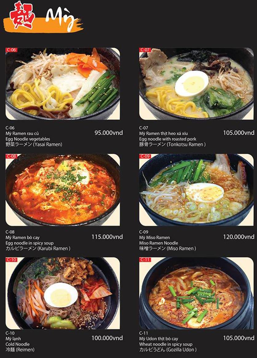 Menu Tokori BBQ - Ngô Quyền 55