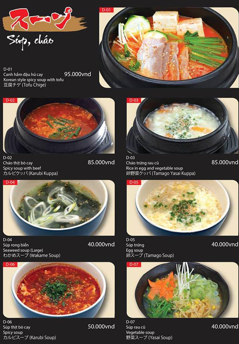 Menu Tokori BBQ - Ngô Quyền 56