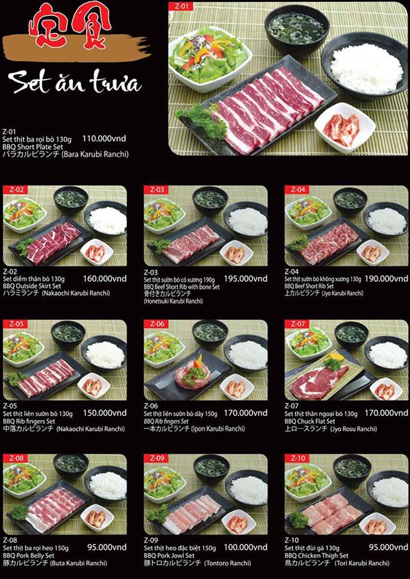 Menu Tokori BBQ - Ngô Quyền 60