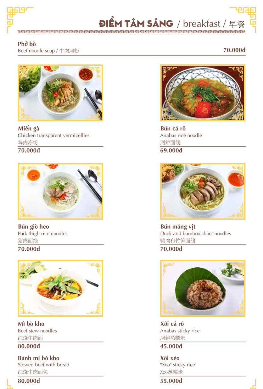 Menu Nhà hàng Việt - Phan Chu Trinh 1
