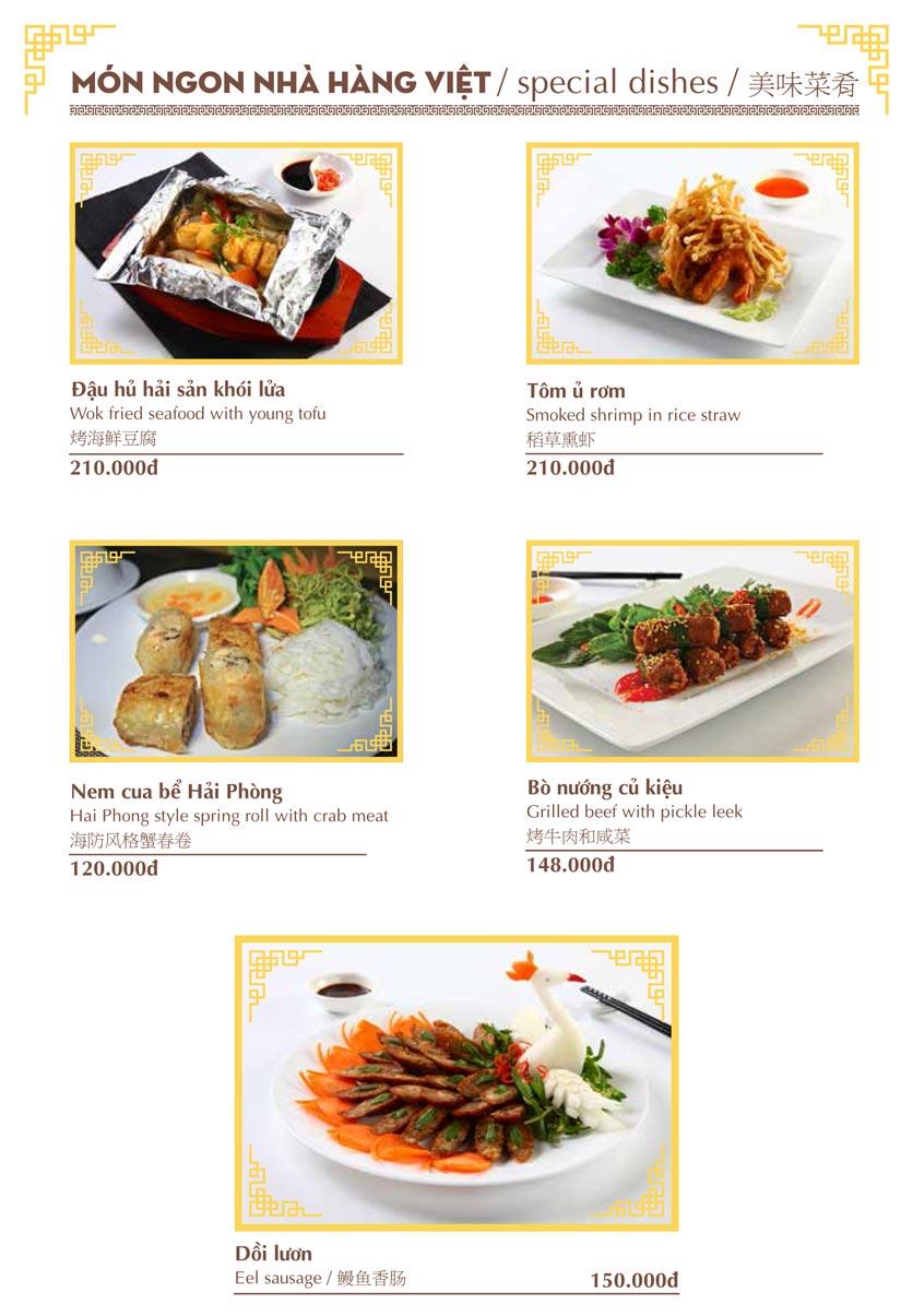 Menu Nhà hàng Việt - Phan Chu Trinh 3