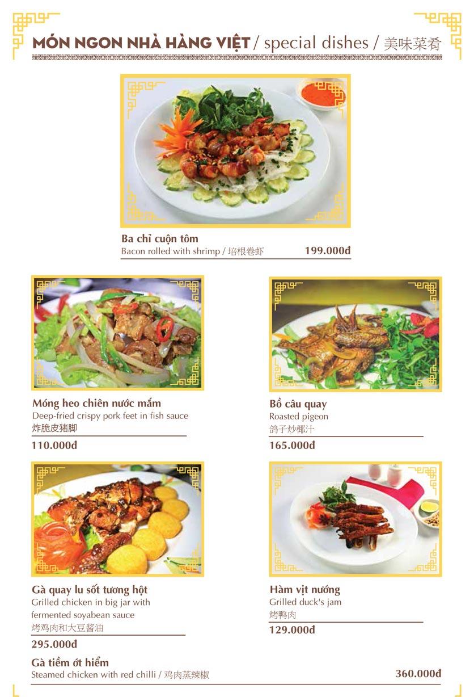 Menu Nhà hàng Việt - Phan Chu Trinh 4