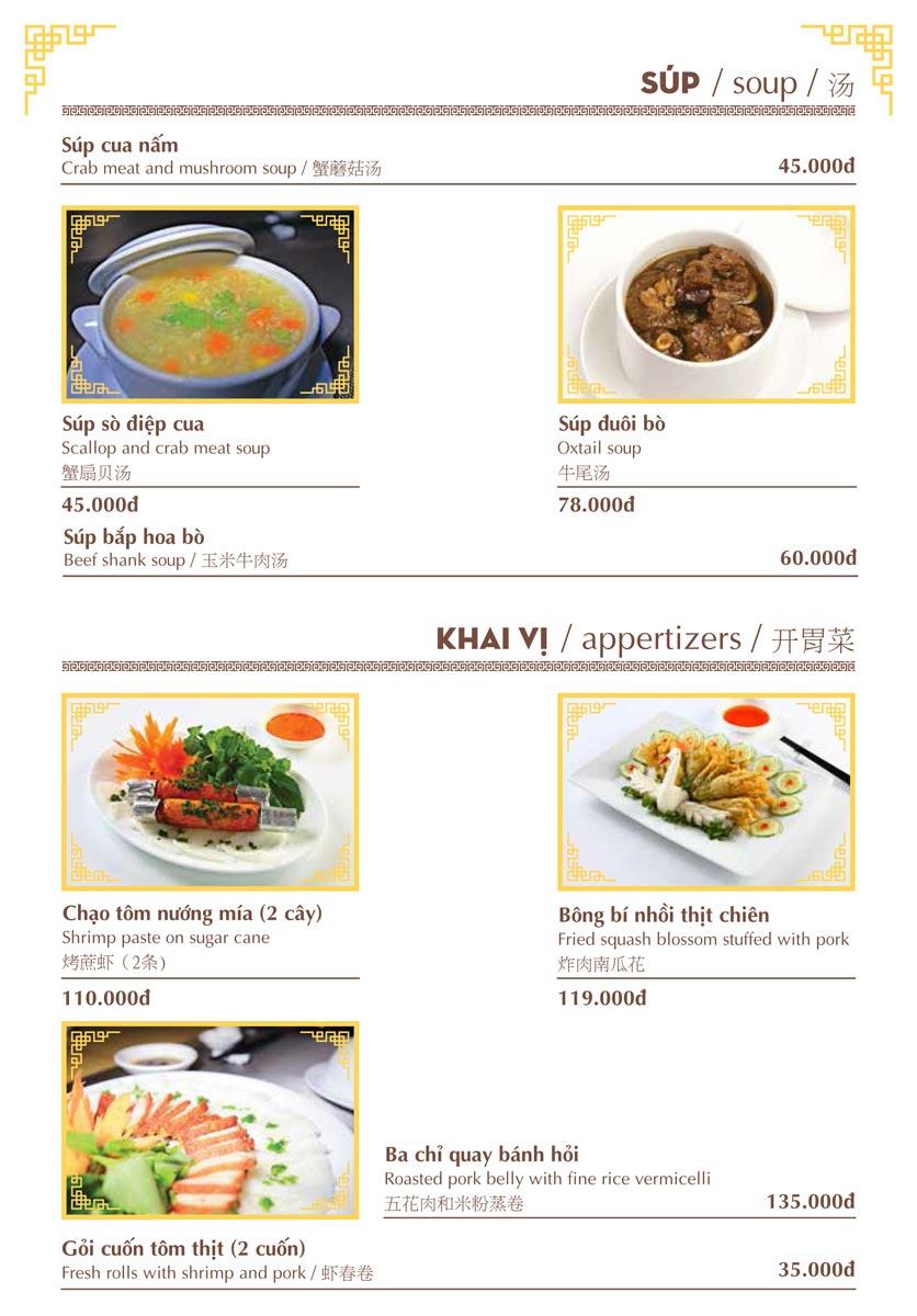 Menu Nhà hàng Việt - Phan Chu Trinh 5