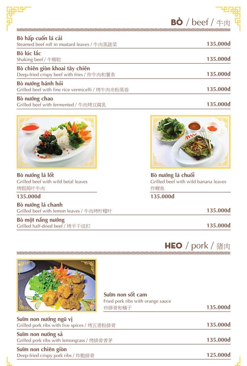 Menu Nhà hàng Việt - Phan Chu Trinh 11