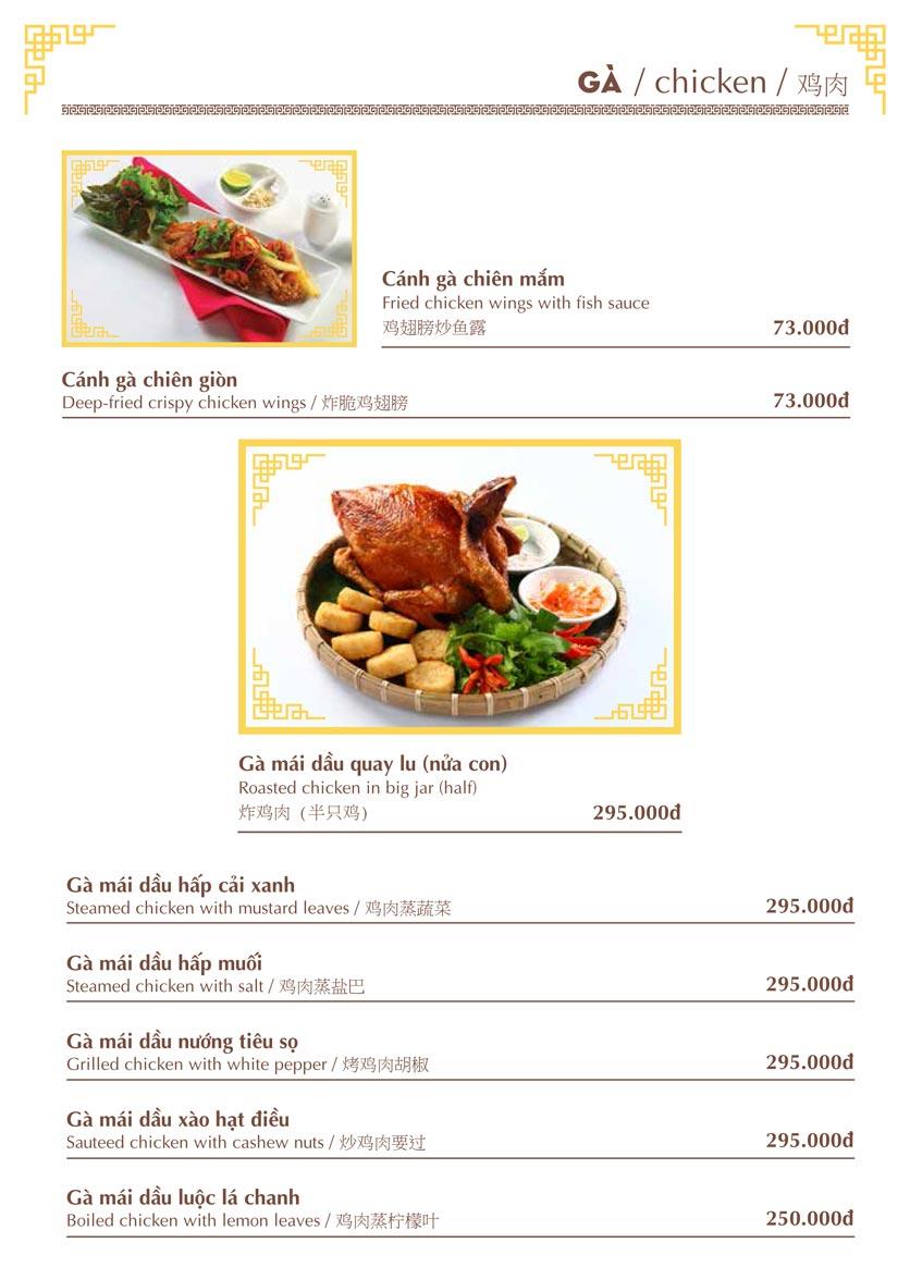 Menu Nhà hàng Việt - Phan Chu Trinh 12