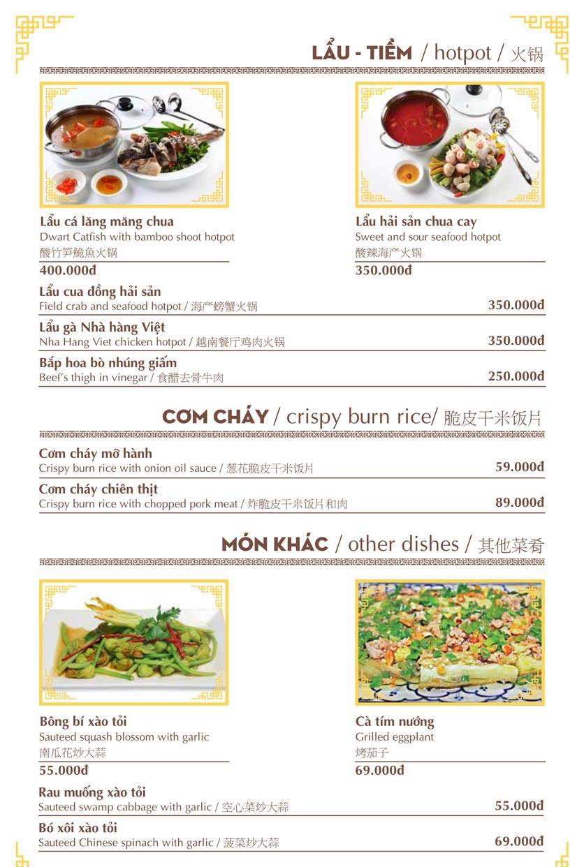 Menu Nhà hàng Việt - Phan Chu Trinh 16