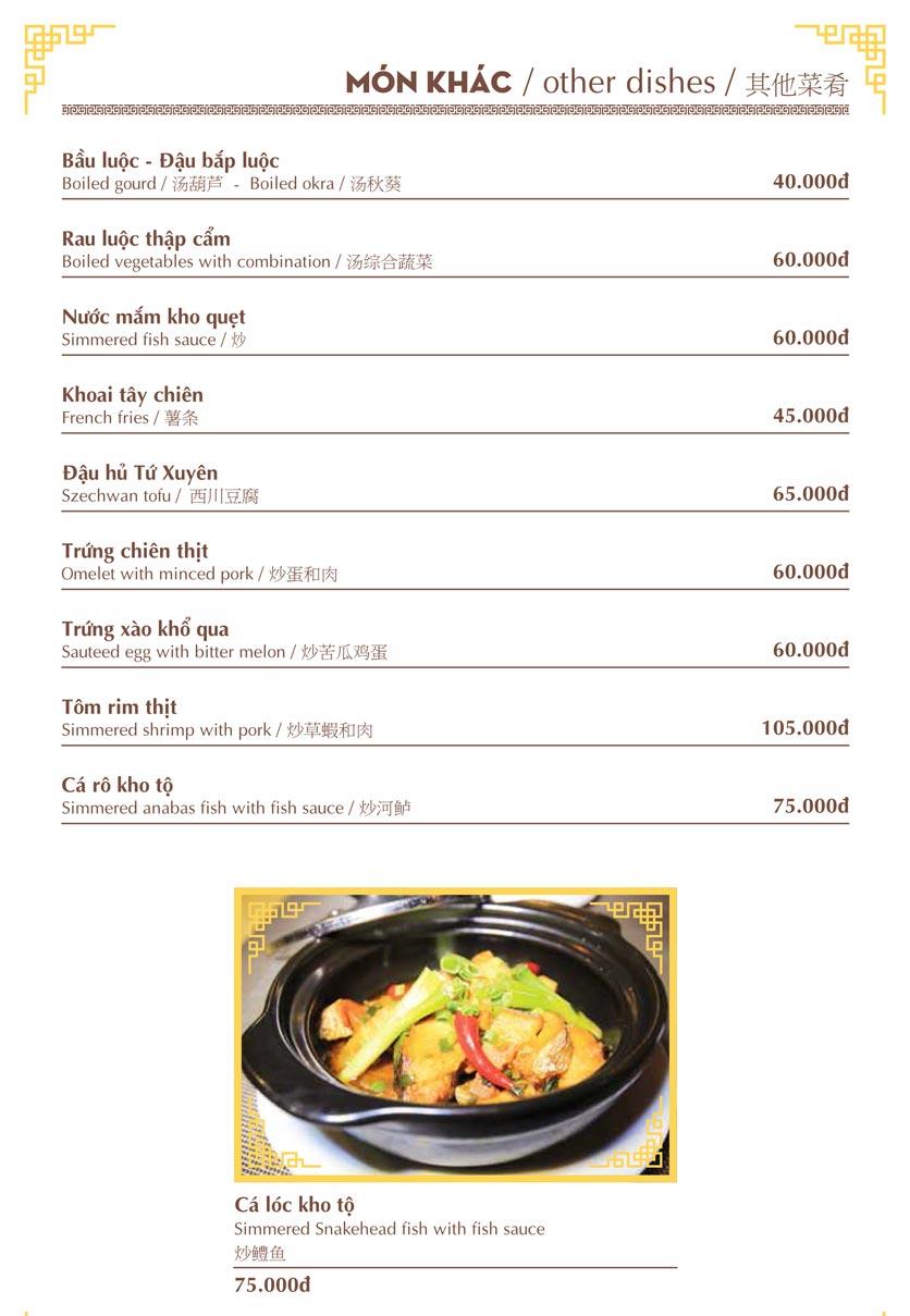 Menu Nhà hàng Việt - Phan Chu Trinh 17