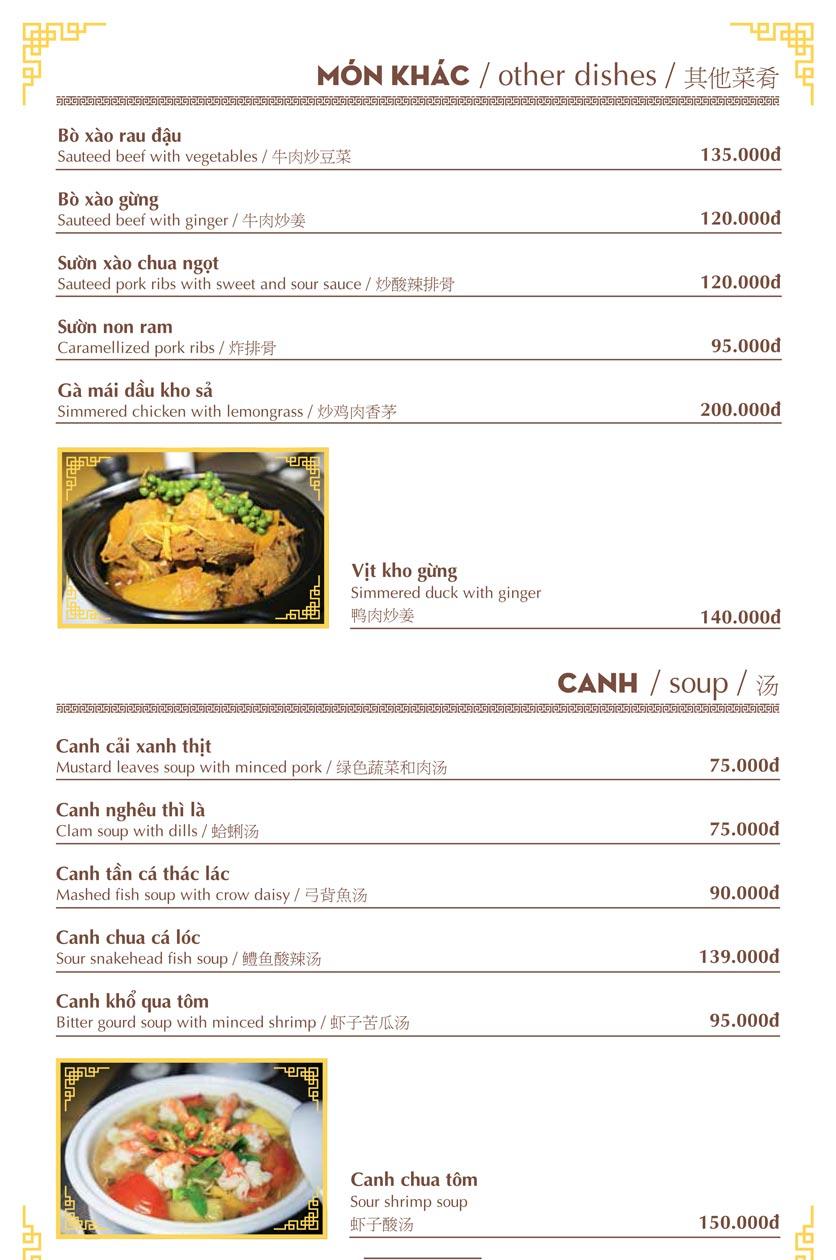 Menu Nhà hàng Việt - Phan Chu Trinh 18