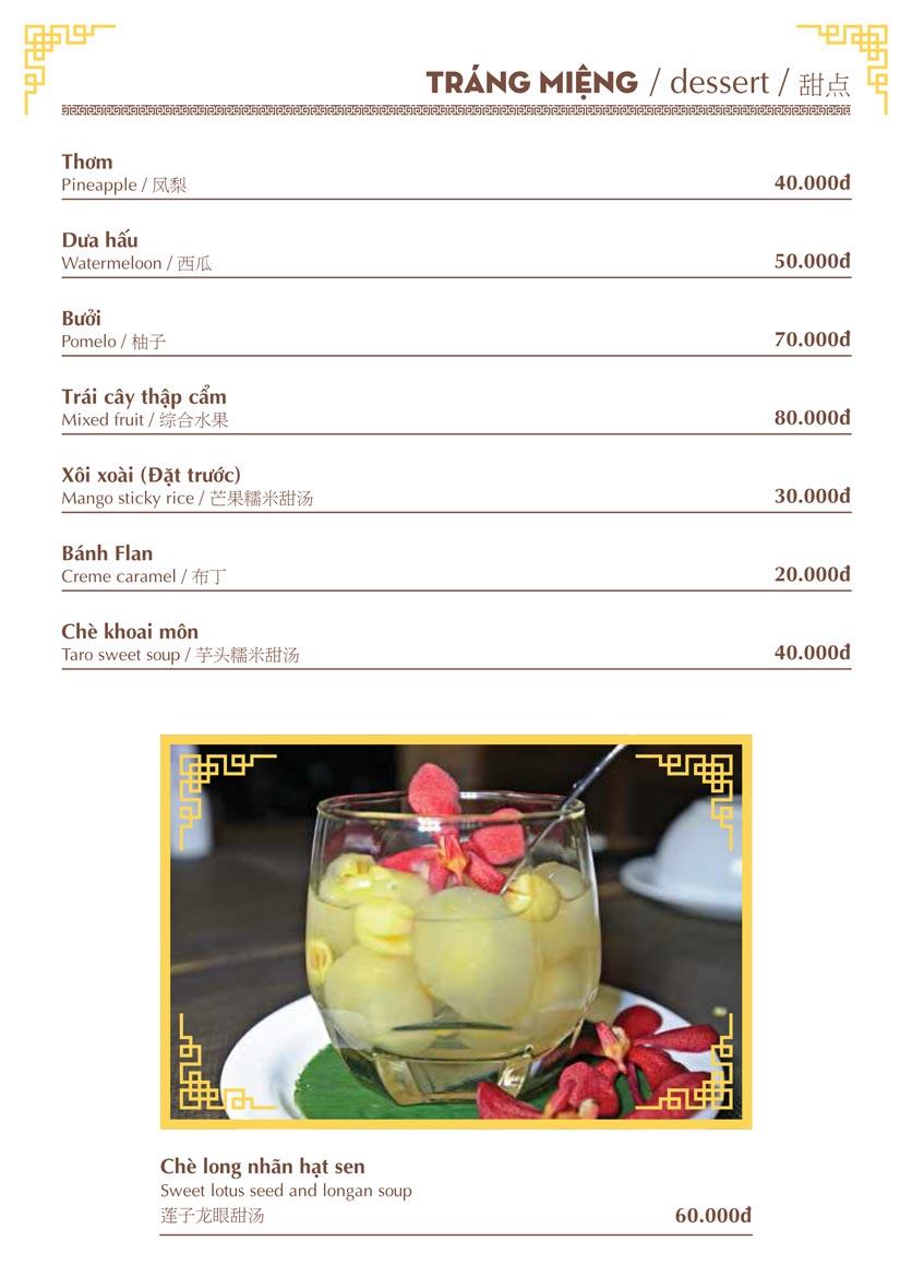 Menu Nhà hàng Việt - Phan Chu Trinh 20
