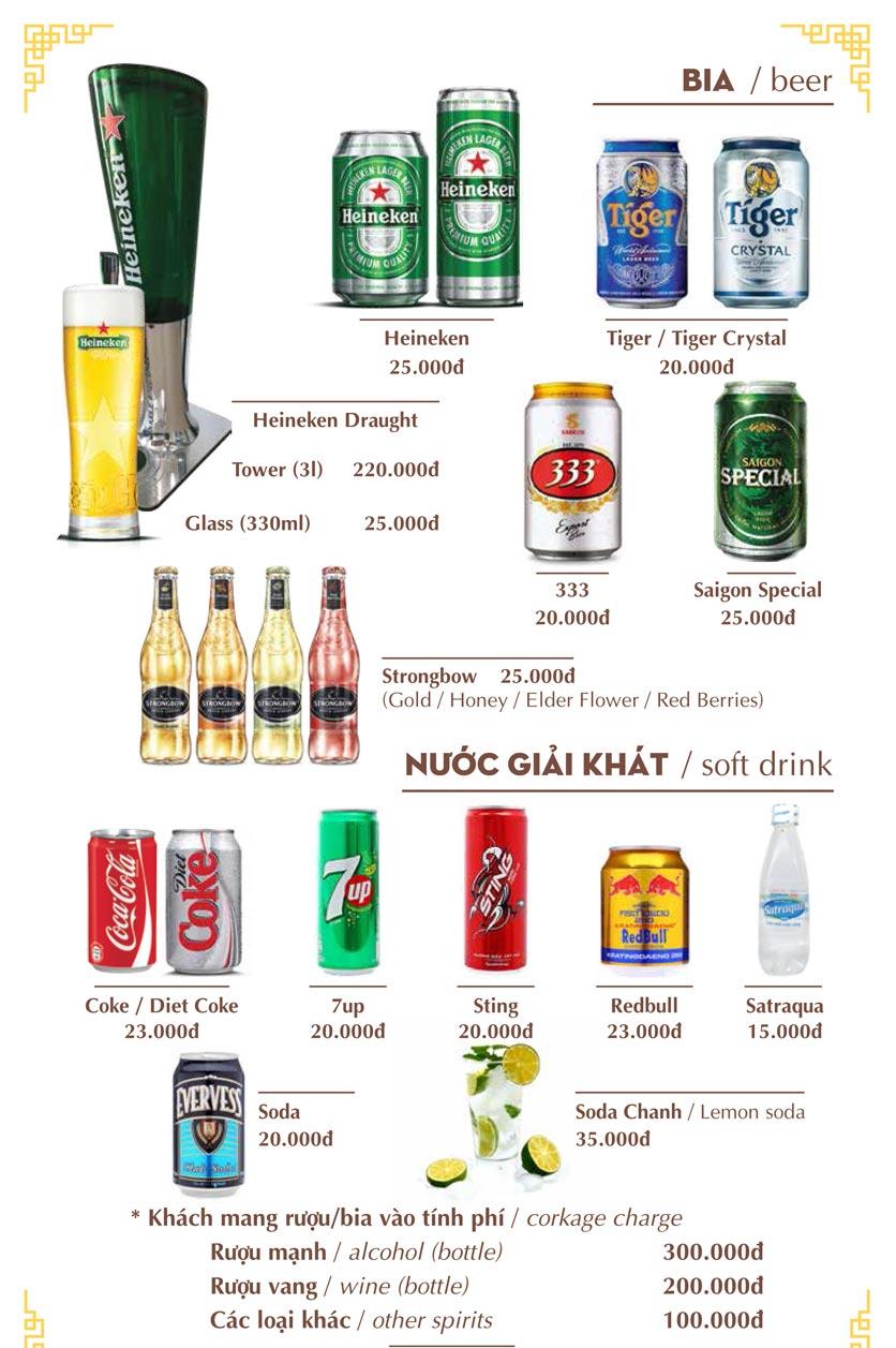 Menu Nhà hàng Việt - Phan Chu Trinh 22