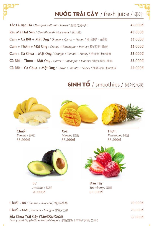 Menu Nhà hàng Việt - Phan Chu Trinh 24