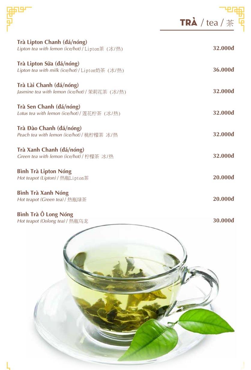 Menu Nhà hàng Việt - Phan Chu Trinh 25