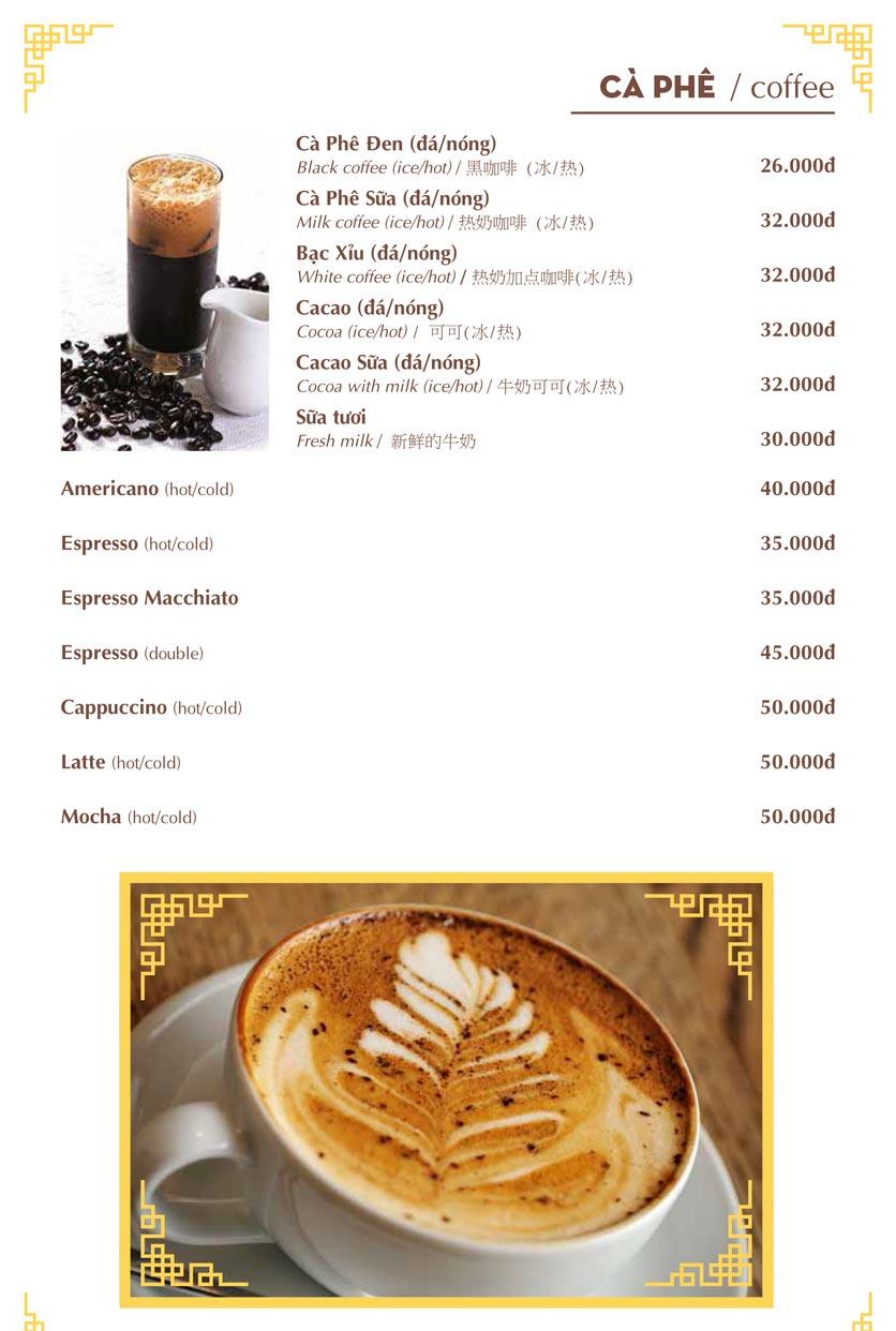 Menu Nhà hàng Việt - Phan Chu Trinh 26