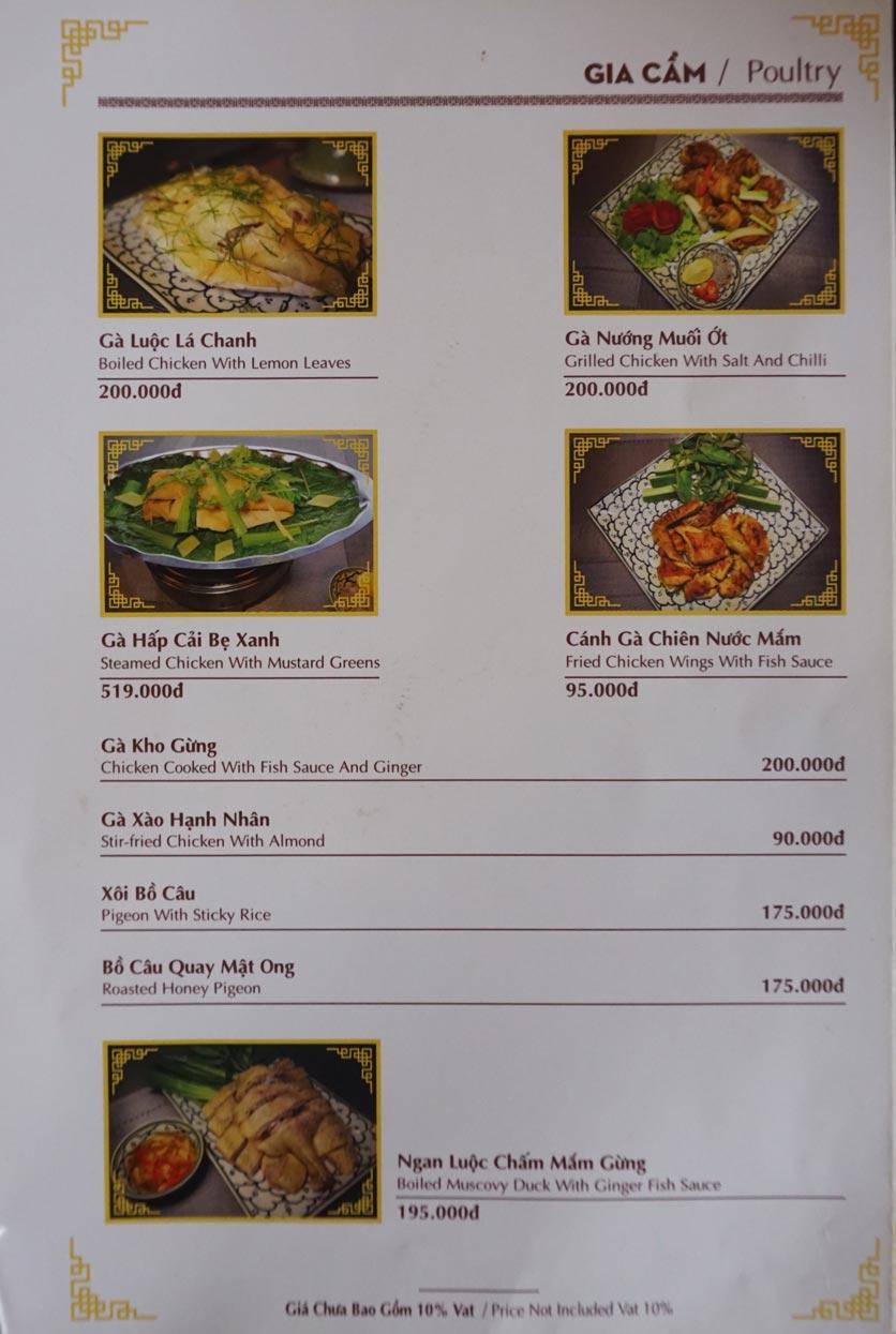 Menu Nhà hàng Việt - StarHill 3