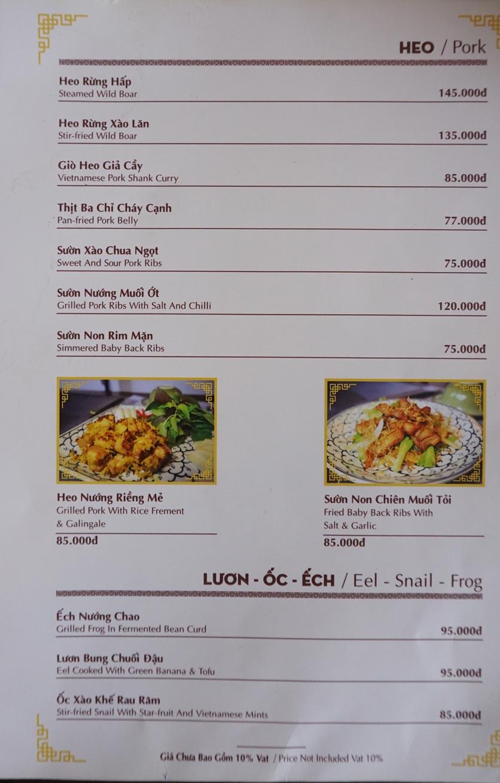 Menu Nhà hàng Việt - StarHill 5