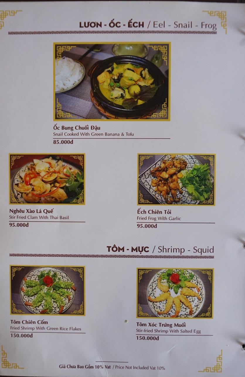 Menu Nhà hàng Việt - StarHill 6
