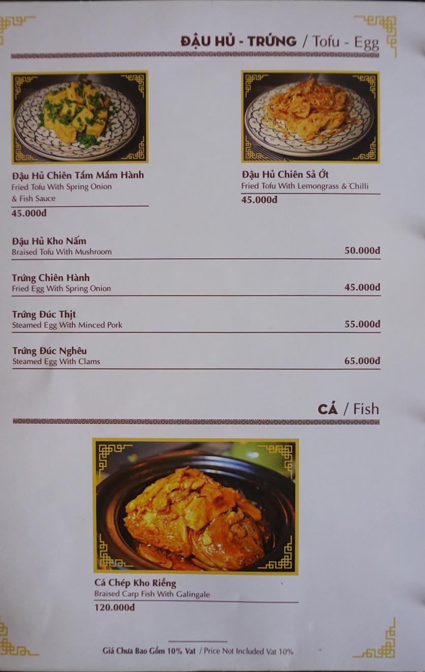 Menu Nhà hàng Việt - StarHill 8