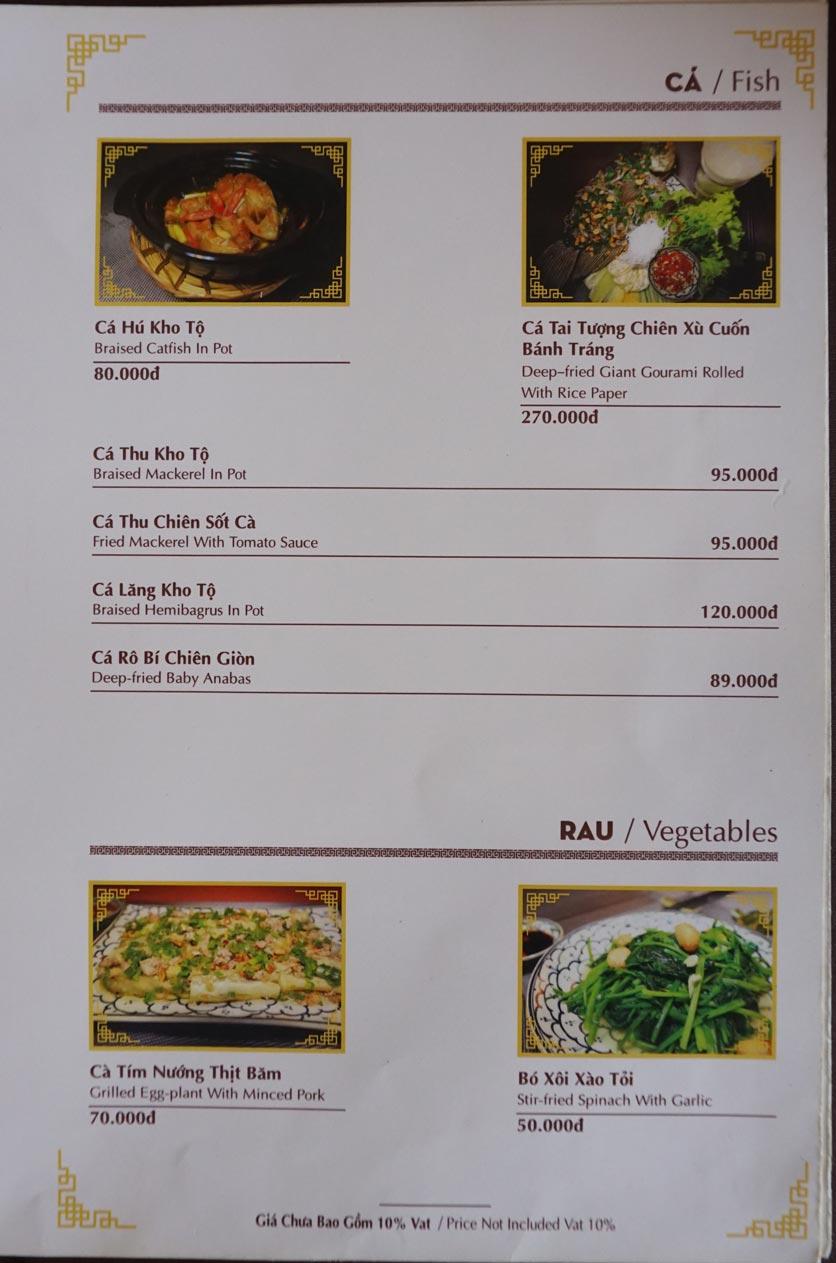 Menu Nhà hàng Việt - StarHill 9