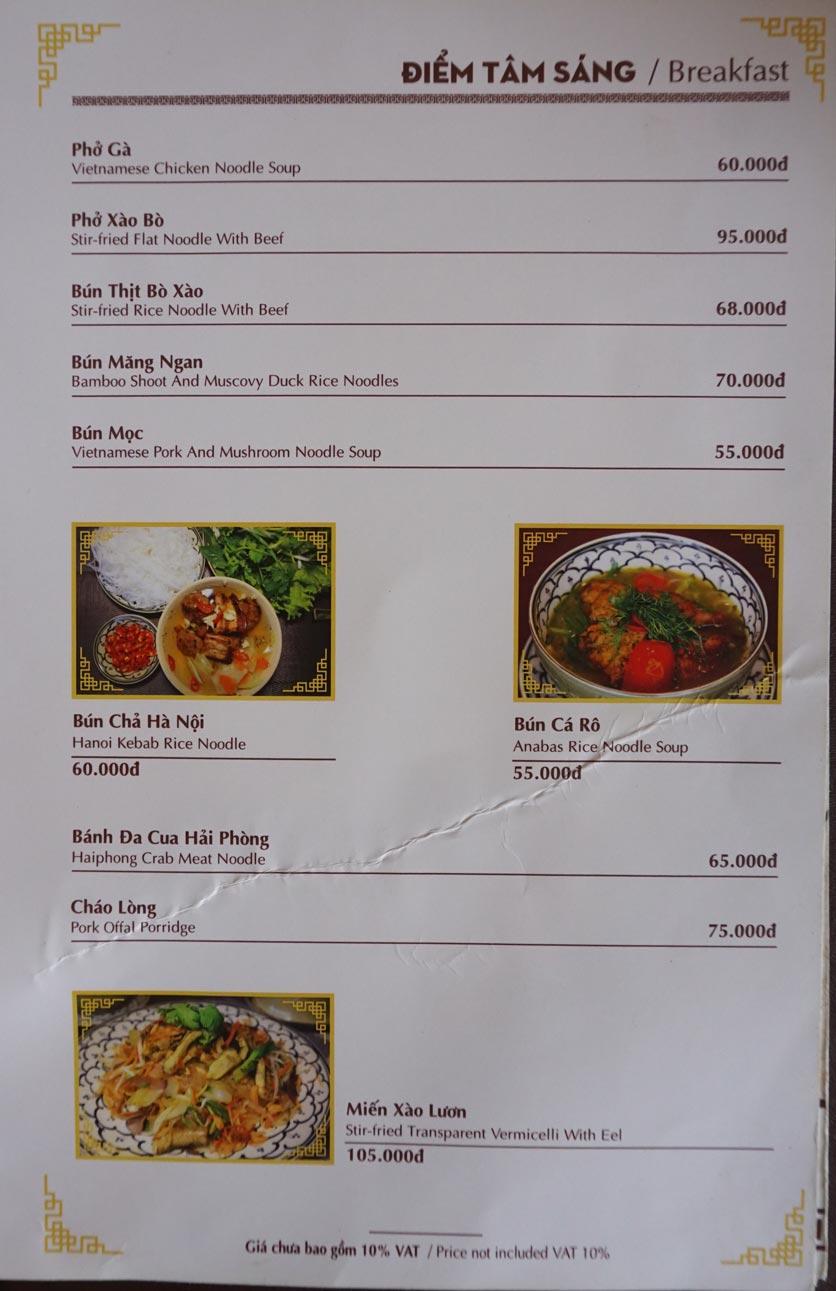 Menu Nhà hàng Việt - StarHill 14