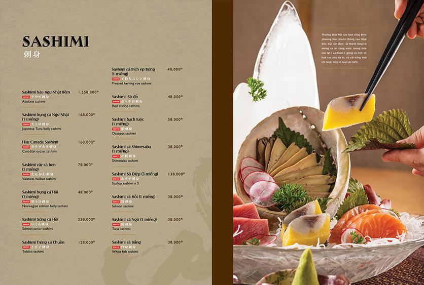 Menu Wa Japanese Cuisine – Trần Phú 3