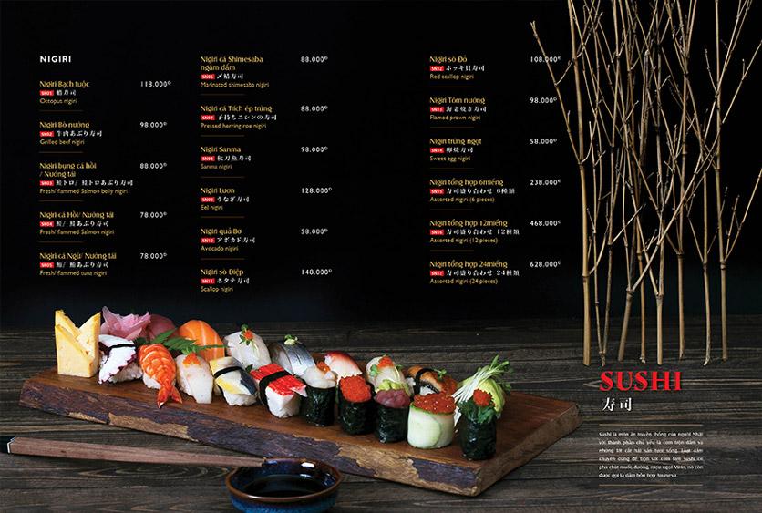 Menu Wa Japanese Cuisine – Trần Phú 9