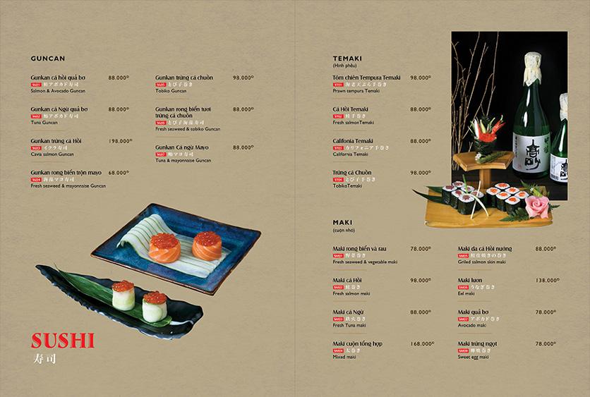 Menu Wa Japanese Cuisine – Trần Phú 10
