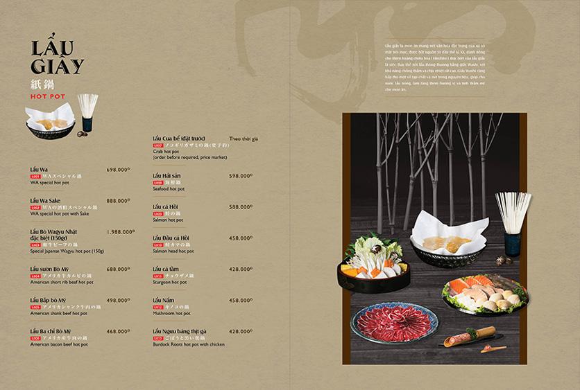 Menu Wa Japanese Cuisine – Trần Phú 12