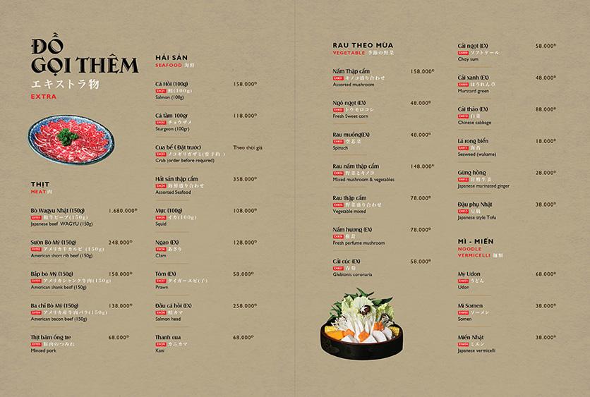 Menu Wa Japanese Cuisine – Trần Phú 17