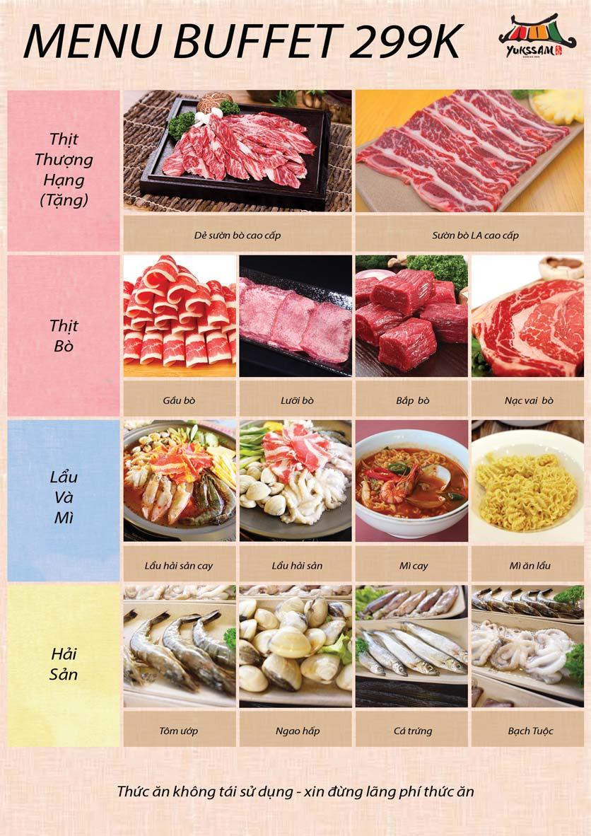 Menu Yukssam BBQ – Ô Chợ Dừa 2