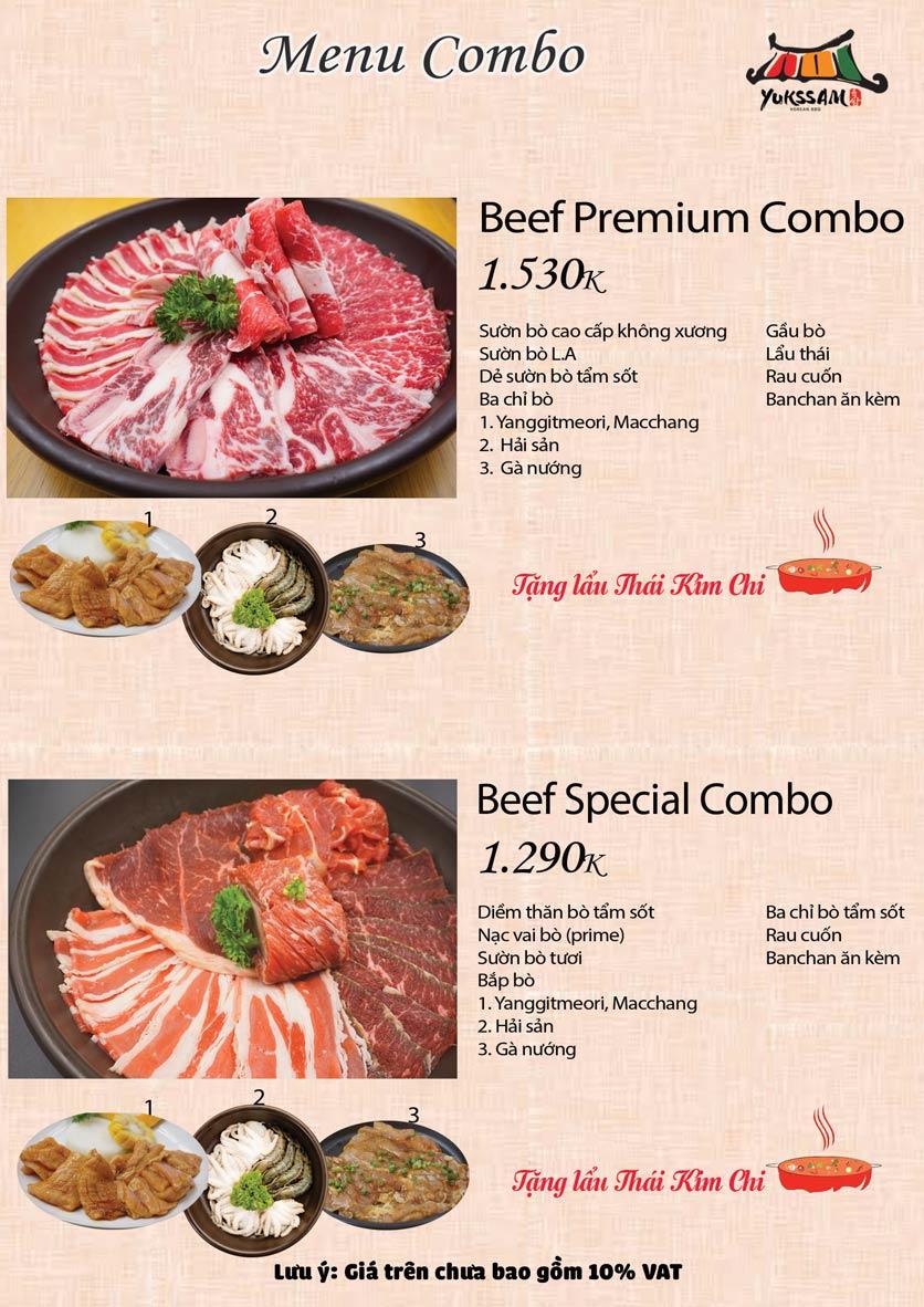 Menu Yukssam BBQ – Ô Chợ Dừa 3