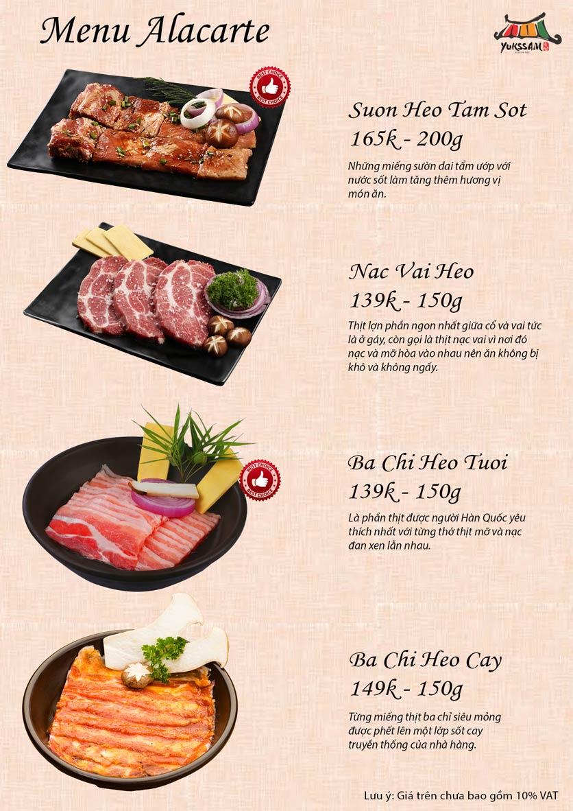 Menu Yukssam BBQ – Ô Chợ Dừa 10