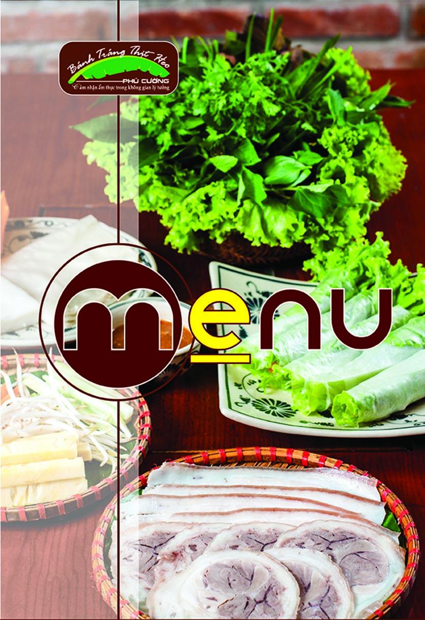 Menu Bánh Tráng Thịt Heo Phú Cường - Yết Kiêu 1