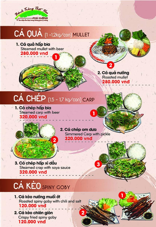 Menu Bánh Tráng Thịt Heo Phú Cường - Yết Kiêu 10