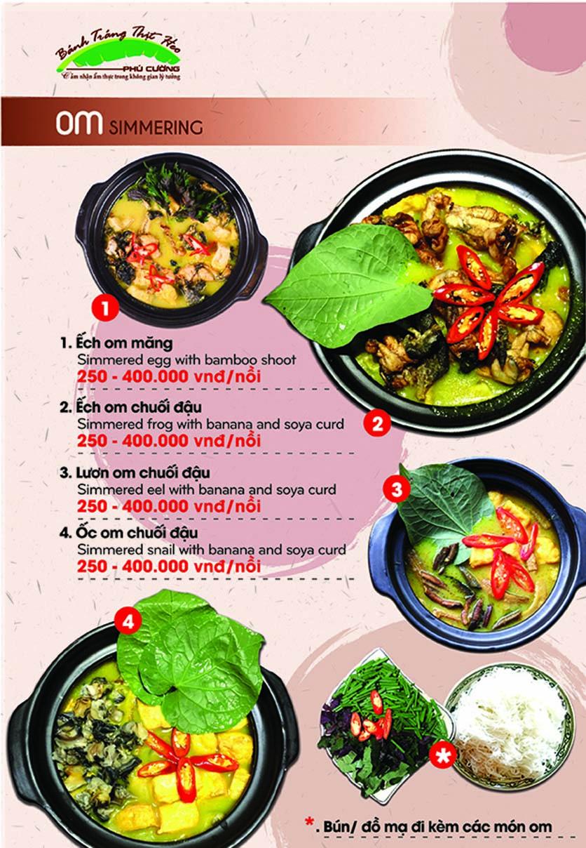 Menu Bánh Tráng Thịt Heo Phú Cường - Yết Kiêu 12