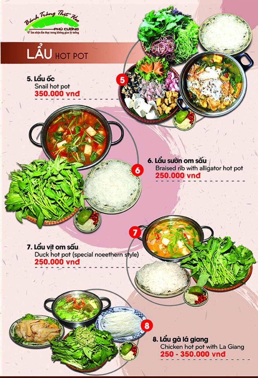 Menu Bánh Tráng Thịt Heo Phú Cường - Yết Kiêu 14
