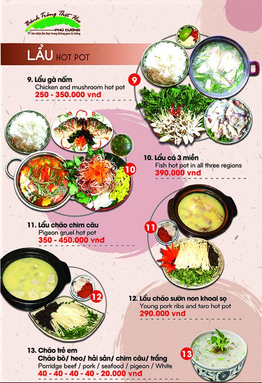 Menu Bánh Tráng Thịt Heo Phú Cường - Yết Kiêu 16